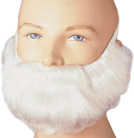Rubies Costumes 2047WHITE Short White Beard and Moustache Adult