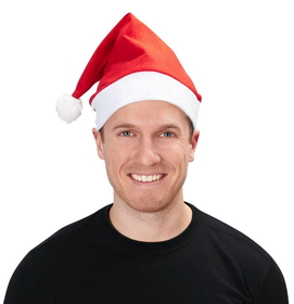 Smiffys 21440 Economy Red Santa Hat Adult , Display Size: One-Size
