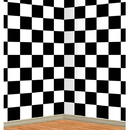 Beistle 52089 Black and White Checkered Backdrop