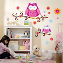 Party Destination 202953 Owl Blossom Giant Wall Decals