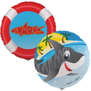 Party Destination Sharks Foil Balloon