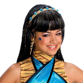 Rubies Costumes 52574 Monster High - Cleo de Nile Wig (Child) - Size: One Size - Color: Black