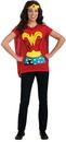 Rubies Costumes 212057 Wonder Woman T-Shirt Adult Costume Kit