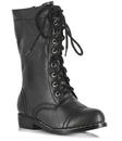 Ellie Shoes 212564 Combat Child Boots