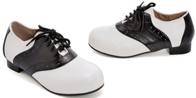 Ellies Shoes 212575 Saddle (Black/White) Child Shoes, Size: X-Large (4-5), 10 x 7 x 3.5