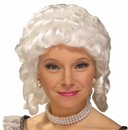 Forum Novelties 214463 Women's Colonial Adult Wig (White)