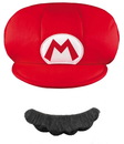Disguise 219499 Super Mario Brothers Mario Kids Hat & Mustache