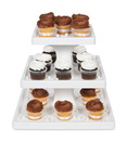 Bakery Crafts 224158 3 Tier Square Cupcake Stand - Color: White