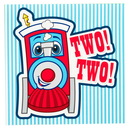 Party Destination 233323 Two-Two Train 2nd Birthday Lunch Napkins