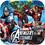 Hallmark 234882 Avengers Assemble Squared Dinner Plates