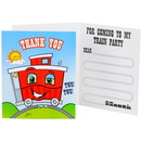 Party Destination 235993 Two-Two Train 2nd Birthday Thank-You Notes