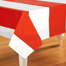 Beistle 237544 Red & White Stripes Tablecover