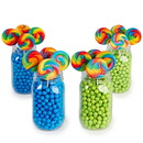 Blue & Lime Green Mason Jar Candy Decor Kit