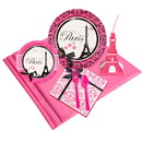 Birthday Express 259914 Paris Damask 16 pc Guest Pack Plus Molded Cups