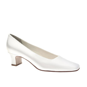 Touch Ups by Benjamin Walk Women's Betty Shoes Satin White
