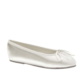 Touch Ups by Benjamin Walk Children's Ballet Shoes Satin White