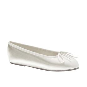 Touch Ups by Benjamin Walk Children's Ballet Shoes Satin White