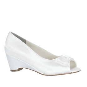Touch Ups by Benjamin Walk children's Kayla Shoes Satin White