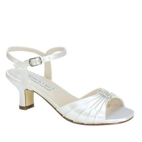 Touch Ups by Benjamin Walk children's Talia Shoes Satin White
