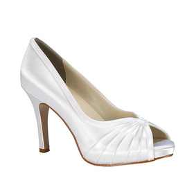 Touch Ups by Benjamin Walk Women's Erika Shoes Satin White