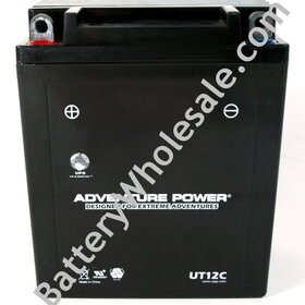Adventure Power UT12C Original Product: Adventure Power UT12C - 12V 140CCA Sealed AGM