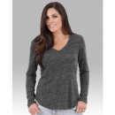 Boxercraft T33 Snow Heather Long Sleeve V-tee