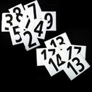 Blazer 09598 # 8 - Hip Number - Bulk Roll Of 250 #8'S