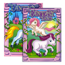 Bazic Products 12603-48 Fantasy Land Foil & Embossed Coloring & Activity Book