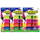 Bazic Products 2323-144 Mini Desk Style Fluorescent Highlighters (4/Pack)