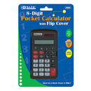 Bazic Products 3004-144 8-Digit Pocket Size Calculator W/ Flip Cover