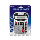Bazic Products 3008-12 8-Digit Silver Desktop Calculator W/ Tone