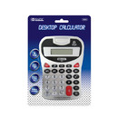 Bazic Products 3008-72 8-Digit Silver Desktop Calculator W/ Tone