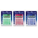 Bazic Products 3010-12 12-Digit Dual Power Fancy Color Desktop Calculator