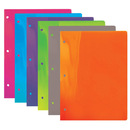 Bazic Products 3110-48 Translucent Multi Color 2-Pockets Poly Portfolio