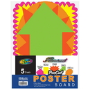 Bazic Products 5059-48 5 Pre-Cut Poster Board Shapes