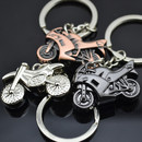 Aspire Mini Motorcycle Stainless Keychain Key Ring Pendant Bag Purse, Bulk Sale