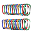 GOGO 24 PCS Aluminum D-shaped Carabiners in Assorted Colors, Gift Idea