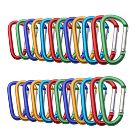 Wholesale Aluminum D-shaped Carabiners, Price/24 PCS