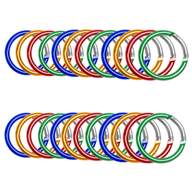 GOGO 24 PCS Aluminum Round Carabiners in Assorted Colors, Gift Idea