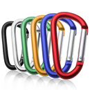 GOGO 48 PCS Wholesale Lot Aluminum D-shaped Carabiners, Size 8cm, Gift Idea