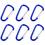 "GOGO 2"" D-shaped Carabiner Key Holders / Spring-loaded Snap Hooks, 60 PCS"