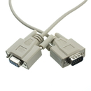 CableWholesale 10D1-20215 Null Modem Cable, DB9 Male to DB9 Female, UL rated, 8 Conductor, 15 foot