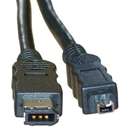CableWholesale 10E3-02106 Firewire 400 6 Pin to 4 Pin cable, IEEE-1394a, 6 foot