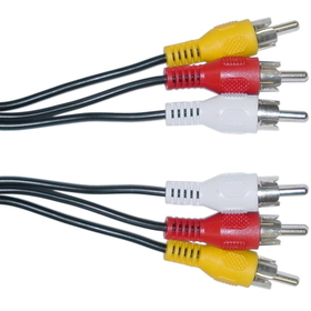 CableWholesale 10R1-03106 RCA Audio / Video Cable, 3 RCA Male, 6 foot