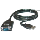 CableWholesale 10U1-06103 USB to Serial Adapter Cable, USB Type A Male to DB9 Male, 3 foot