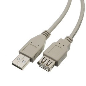 CableWholesale 10U2-02115E USB 2.0 Extension Cable, Type A Male to Type A Female, 15 foot