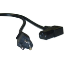 CableWholesale 10W1-06206 Right Angle Computer / Monitor Power Cord, Black, NEMA 5-15P to Right Angle C13, 10 Amp, 6 foot