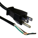 CableWholesale 10W1-10106 NEMA 5-15P to Standard ROJ Power Cord, Black, 18/3 (18AWG 3 Conductor) SVT, 10 Amp / 125 Volt, 6 foot