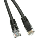 CableWholesale 10X6-02201 Cat5e Black Ethernet Patch Cable, Snagless/Molded Boot, 1 foot