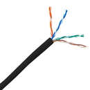 CableWholesale 10X6-022TH Bulk Cat5e Black Ethernet Cable, Solid, UTP (Unshielded Twisted Pair), Pullbox, 1000 foot